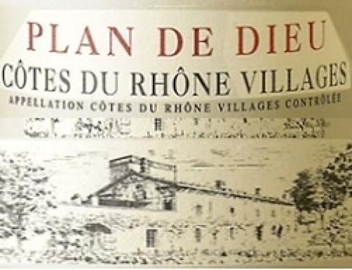 Plan de Dieu vin du Rhône